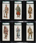 "Non-Sport Cards:Sets, 1918 E252 Wilbur's Cocoa ""Soldiers of the Allies"" Complete Set (6)...."