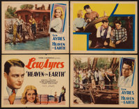 """Heaven on Earth (Universal, 1931). Title Lobby Card & Lobby Cards (3) (11"""" X 14""""). Drama. ... (Total: 4 It..."""