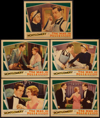 """The Man in Possession (MGM, 1931). Lobby Cards (5) (11"""" X 14""""). Comedy. ... (Total: 5 Items)"""