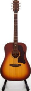Musical Instruments:Acoustic Guitars, 1970 Gibson J-45 Deluxe Sunburst Acoustic Guitar, Serial #A600306....