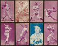Baseball Cards:Sets, 1953 Canadian Exhibits Baseball Near Set (50/64). ...