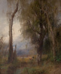 Fine Art - Painting, American:Antique  (Pre 1900), HERMANN HERZOG (American, 1832-1932). Lazy Days, Everglades.Oil on canvas. 62 x 52 inches (157.5 x 132.1 cm). Signed lo...
