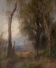 HERMANN HERZOG (American, 1832-1932) Lazy Days, Everglades Oil on canvas 62 x 52 inches (157.5 x 132.1 cm) Signed lo