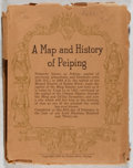 Books:Maps & Atlases, Frank Dorn. A Map and History of Peiping. Peiyang Press, 1936. First edition, first printing. Booklet and foldin...