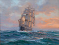 Maritime:Paintings, CHARLES B. VICKERY (American, 1913-1998). Sunset Sailing.Oil on canvas. 14 x 18 inches (35.6 x 45.7 cm). Signed lower r...