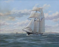Maritime:Paintings, CHARLES F. KENNEY (American, 20/21st century). Topsail SchoonerShenandoah, 1996. Oil on board. 16 x 20 inches (40.6 x 5...
