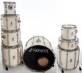 Musical Instruments:Drums & Percussion, 1980s Sonor 8-Piece Tan Drum Set....