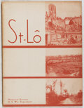 Books:World History, US War Dept. ST-LO. US Govt., 1946. First edition, first printing. Minor rubbing and toning. Folding color maps. Ver...