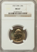 SMS Washington Quarters: , 1967 25C SMS MS67 NGC. NGC Census: (11/0). PCGS Population(708/88). Mintage: 1,800,000. Numismedia Wsl. Price for problem ...