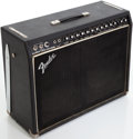 Musical Instruments:Amplifiers, PA, & Effects, Late 1970s Fender Super Twin Reverb Black Guitar Amplifier, Serial# A842552...