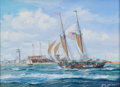 Maritime:Paintings, ROY CROSS (British, b. 1924). Coming Home After Year LongVoyage, 2001. Gouache on canvas. 15 x 18 inches (38.1 x 45.7c...