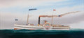Maritime:Paintings, SCOTT CAMERON (American, b. 1946). The Historic Ocean Steamship,The Delaware. Oil on canvas. 22 x 46 inches (55.9 x 116...