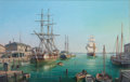 Maritime:Paintings, ROY CROSS (British, b. 1924). Old Salem in the 1840s, Bark'Rosabella', 1995. Oil on canvas. 32 x 50 inches (81.3 x 127...