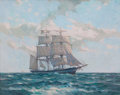 Maritime:Paintings, GORDON HOPE GRANT (American, 1875-1962). On the High Seas,1956. Oil on canvas. 24 x 30 inches (61.0 x 76.2 cm). Signed ...