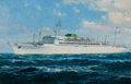 Maritime:Paintings, JACK LORIMER GRAY (American, 1927-1981). 'S. S. Brasil'. Oilon canvas. 26 x 40 inches (66.0 x 101.6 cm). Signed lower r...