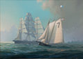 Maritime:Paintings, LEONARD JOHN PEARCE (British, b. 1932). Boston Pilot Boat'Friend'. Oil on canvas. 20 x 28 inches (50.8 x 71.1 cm).Sign...