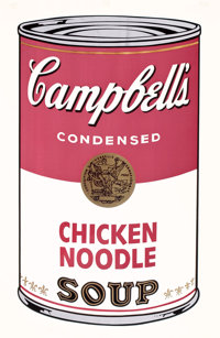 ANDY WARHOL (American, 1928-1987) Campbell's Soup I: Chicken Noodle, 1968 Color screenprint on paper