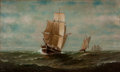 Maritime:Paintings, WESLEY ELBRIDGE WEBBER (American, 1841-1914). Sailing ShipsUnder Way. Oil on canvas. 30 x 50 inches (76.2 x 127 cm). Si...