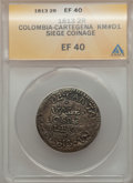 Colombia, Colombia: Cartagena Siege 2 Reales 1813,...