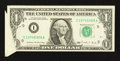 Error Notes:Attached Tabs, Fr. 1914-I $1 1988 Federal Reserve Note. About Uncirculated.. ...