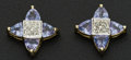 Estate Jewelry:Earrings, Tanzanite & Gold Star Earrings. ...