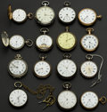Timepieces:Pocket (post 1900), A Lot Of Fifteen Swiss Assorted Pocket Watches. ... (Total: 15Items)