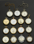 Timepieces:Pocket (post 1900), A Lot Of Fifteen 12 Size Pocket Watches. ... (Total: 15 Items)