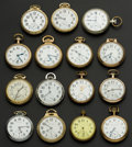 Timepieces:Pocket (post 1900), Fifteen American Pocket Watches. ... (Total: 15 Items)