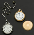 Timepieces:Pocket (post 1900), Two Hamilton's 19 Jewel 996 & 21 Jewel 992 B Pocket Watches Runners. ... (Total: 2 Items)