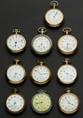 Timepieces:Pocket (post 1900), A Lot Of Ten 18 Size American Pocket Watches. ... (Total: 10 Items)