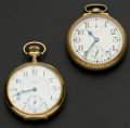 Timepieces:Pocket (post 1900), Two Waltham's 23 Jewels Vanguard & Riverside Maximus PocketWatches. ... (Total: 2 Items)
