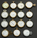 Timepieces:Pocket (post 1900), A Lot Of Fifteen American Pocket Watches. ... (Total: 15 Items)