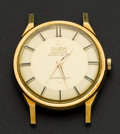 Timepieces:Wristwatch, Omega 18k Gold Constellation With Pie Pan Dial. ...