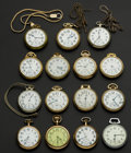 Timepieces:Pocket (post 1900), A Lot Of Fifteen American Pocket Watches Including Hamilton 23 Jewel 950. ... (Total: 15 Items)