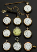 Timepieces:Pocket (post 1900), A Lot Of Ten 18 Size Pocket Watches Including A 23 Jewel Vanguard.... (Total: 10 Items)
