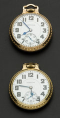 Timepieces:Pocket (post 1900), Two Hamilton's 21 Jewel 992 Pocket Watches Runners. ... (Total: 2 Items)
