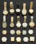 Timepieces:Wristwatch, A Lot Of Twenty Miscellaneous Vintage Wristwatches. ... (Total: 20 Items)