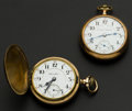 Timepieces:Pocket (post 1900), Two Hamilton's 21 Jewel 18 Size Pocket Watches Runners. ... (Total:2 Items)