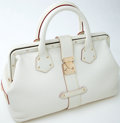 Luxury Accessories:Bags, Heritage Vintage: Louis Vuitton White Leather Suhali le IngenieuxBag. ...