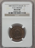 Central American Union, Central American Union: Confederation 1 Centavo Essai in bronze 1889,...