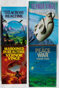 Books:Science Fiction & Fantasy, [Jerry Weist]. Vernor Vinge. Group of Four Books, Three Signed or Inscribed First Editions. Various, 1984-1999. Across Rea... (Total: 4 Items)