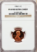 Proof Lincoln Cents, 1986-S 1C PR69 Red Ultra Cameo NGC. NGC Census: (423/15). PCGSPopulation (2968/59). Numismedia Wsl. Price for problem fre...