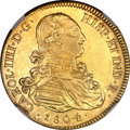 Mexico, Mexico: Carlos IIII gold 8 Escudos 1804-TH,...