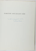 Books:Biography & Memoir, Lillian Gish. SIGNED. Dorothy and Lillian Gish. Scribners,1973. First edition, first printing. Signed by Lill...