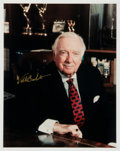 Movie/TV Memorabilia:Autographs and Signed Items, Walter Cronkite: CBS News Anchorman's Autographed Photo ForDoodle for Hunger. Benefitting St. Francis Food P...