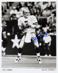Movie/TV Memorabilia:Autographs and Signed Items, Troy Aikman: Pro Football Quarterback's Autographed Photo for Doodle for Hunger. Benefitting St. Francis Food...