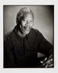 Movie/TV Memorabilia:Autographs and Signed Items, Morgan Freeman: Actor's Autographed Photo For Doodle forHunger. Benefitting St. Francis Food Pantries and Shelte...