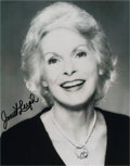 Movie/TV Memorabilia:Original Art, Janet Leigh: Actor's Autographed Photo For Doodle forHunger. Benefitting St. Francis Food Pantries and Shelt...