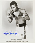 Movie/TV Memorabilia:Autographs and Signed Items, Michael Spinks: Pro Boxer's Autographed Photo For Doodle for Hunger. Benefitting St. Francis Food Pantries an...