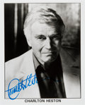 Movie/TV Memorabilia:Autographs and Signed Items, Charlton Heston: Actor's Autographed Photo For Doodle forHunger. Benefitting St. Francis Food Pantries and Shelt...